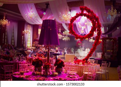 Dinner table decors for wedding and event gala
