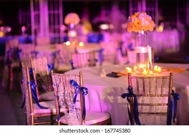Dinner wedding set up