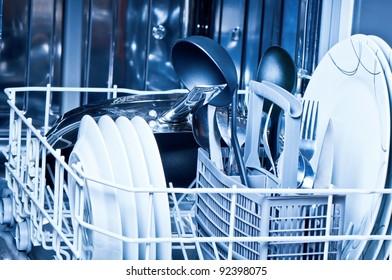 Dinnerware  inside  dishwasher