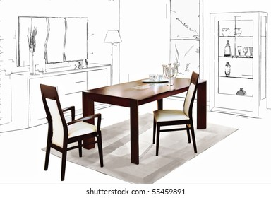 Similar Images, Stock Photos & Vectors of Dining Room ...