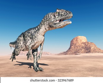 Dinosaur Allosaurus Computer generated 3D illustration