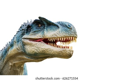 Dinosaur allosaurus and monster model Isolated white background