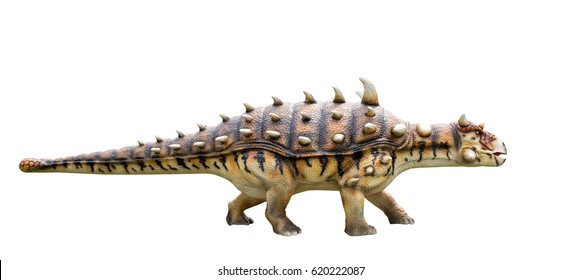 Dinosaur ankylosaurus and monster model Isolated white background