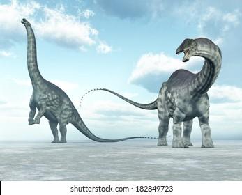 Dinosaur Apatosaurus Computer generated 3D illustration