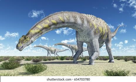 Dinosaur Argentinosaurus Computer generated 3D illustration