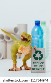 Dinosaur Concept: Reduce - reuse - recycle