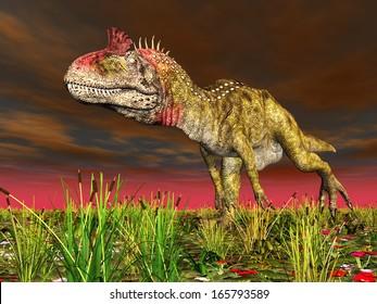 Dinosaur Cryolophosaurus Computer generated 3D illustration