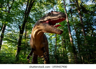 Dinosaur in the forest, at dino park