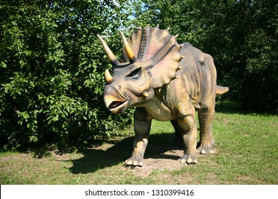 Dinosaur Triceratops in the Park
