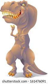 dinosaur  tyrannosaurus rex isolated