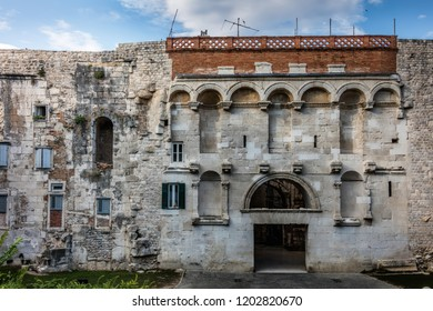 Diocletian's Palace intended as the retirement residence for the Roman Emperor Diocletian, built in the 4th century AD in Split, Croatia