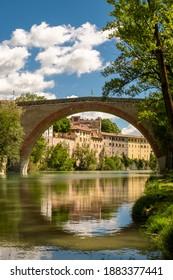 Diocleziano's bridge, Roman bridge, Fossombrone, Marche, Italy.