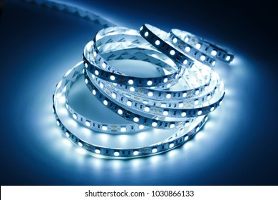 Diode strip for decoration of interiors. Led lights tape.