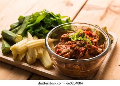 Dip with Dried Shrimp Phuket Style thai food