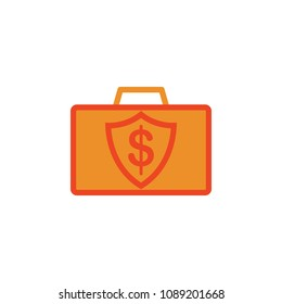diplomat with money colored icon. Element of bankings for mobile concept and web apps. Detailed diplomat with money colored icon can be used for web and mobile on white background