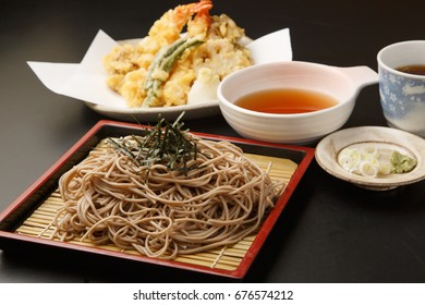Dipping Style Soba Serve with Tempura