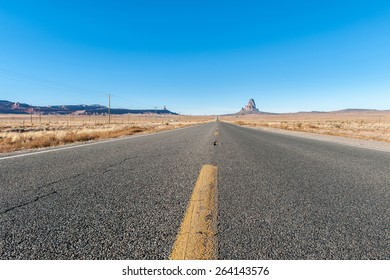 direct road toward the horizon