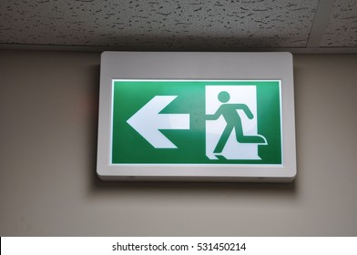 Direction in case of emergency sign