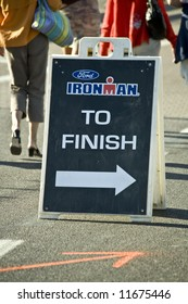 Direction to finish line at the April 2008 Ironman Triathlon  in Tempe Arizona.