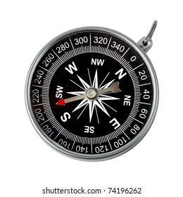 Direction and navigation concept - compass isolated on white background
