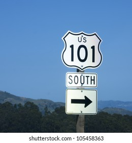 Direction sign to 101 Highway