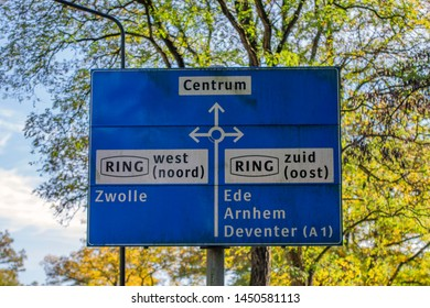 Direction Sign At Apeldoorn The Netherlands 2018