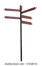direction sign isolated, find your way