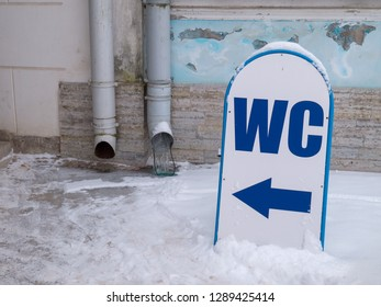 Direction sign WC
