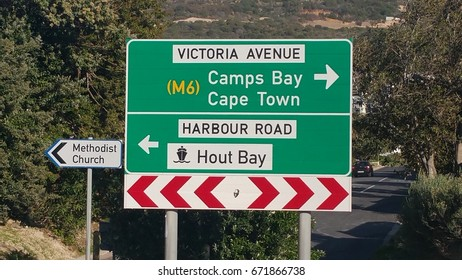 Directional sign, Hout Bay near Cape Town, Western Cape, South Africa