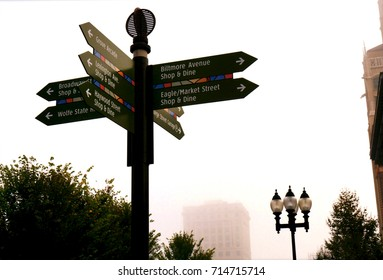 Directional Signs in Downtown Asheville