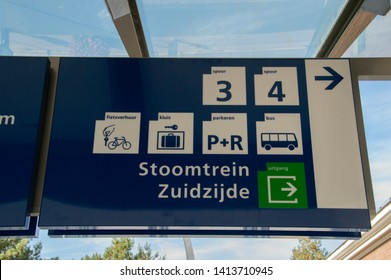 Directions Sign At The Train Station Of Apeldoorn The Netherlands 2018