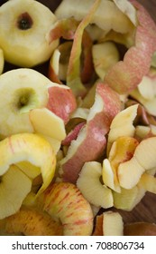 Directly above shot of fresh apples with peels