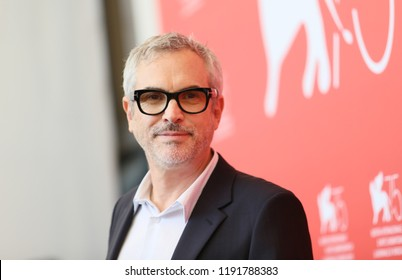 Director Alfonso Cuaron attends 'Roma' photocall during the 75th Venice Film Festival at Sala Casino on August 30, 2018 in Venice, Italy.