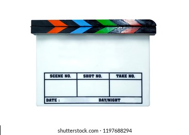 Director Clapping Wooden Board