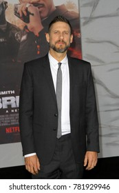 "Director David Ayer attends the Netflix ""Bright"" premiere on Dec. 13, 2017 at the Regency Village Theatre in Los Angeles, CA."