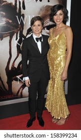 "Director Kimberly Peirce (left) & spouse Evren Savci at the world premiere of her movie ""Carrie"" at the Arclight Theatre, Hollywood. October 7, 2013  Los Angeles, CA"