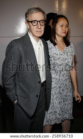 Director Woody Allen And Soon Yi Previn Attend The DreamWorks SKG Premiere Of Match Point Held At LACMA In Los Angeles California On December 8