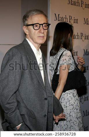 And Soon Yi Previn Attend Attends The DreamWorks SKG Premiere Of Match Point Held At LACMA In Los Angeles California On December 8 2005