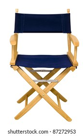 Director's chair isolated on white background with clipping path.
