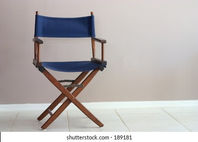 Director's Chair with negative space for copy