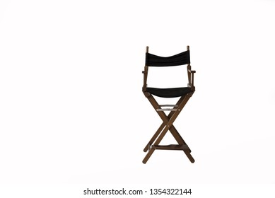 director's chair on a white background