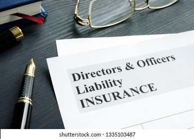 Directors and Officers Liability D&O insurance application form.