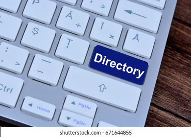 Directory on computer  keyboard button