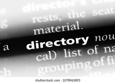 directory word in a dictionary. directory concept