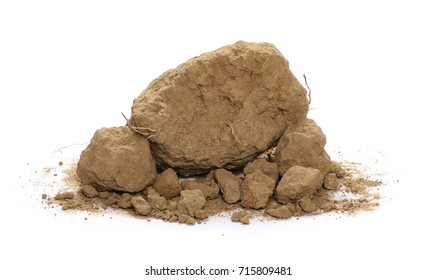 Dirt pile isolated on white background