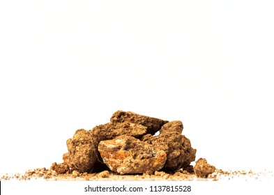 Dirt pile on white background.