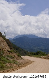 Dirt road in the Andes mountains of Ecuador