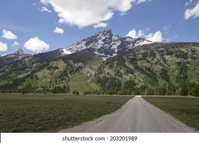 dirt road to base of mountain