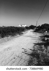 Dirt road of Chania Greece