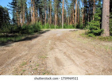 A dirt road in the Finnish countryside